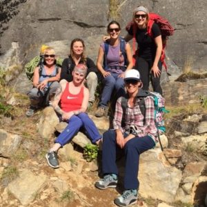 The crew who attended the female rock skills on Sunday.