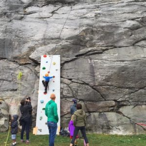 The Kids Climbing Wall was a hit, as always.