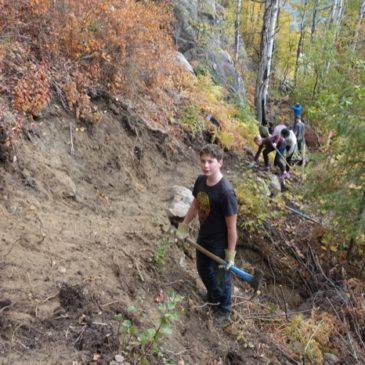 Rotary Youth Group & TAWKROC Improve Kinnaird Trail