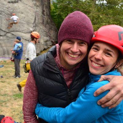 Climbing makes people happy. Scott Jeffery photo.