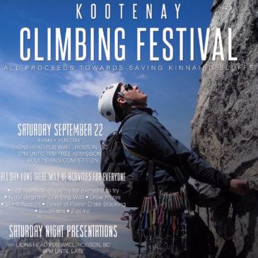 Kootenay Climbing Festival 2018: Olympic Climber Jen Olson & Legend Don Vockeroth