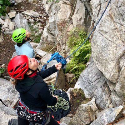 Female Climbing Clinic on Sunday. Jen Olson photo.